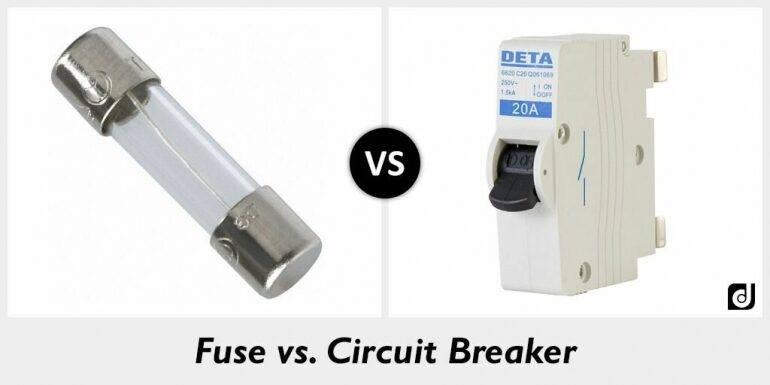 fuse vs. circuit breaker